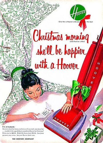 Vintage Christmas Ad Hoover