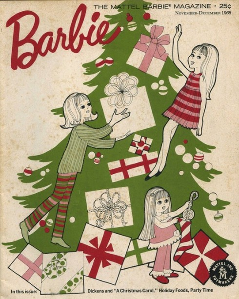 Vintage Chrismas Barbie Ad
