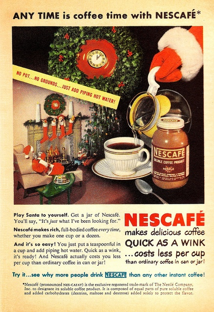 Vintage Christmas Nescafe Ad