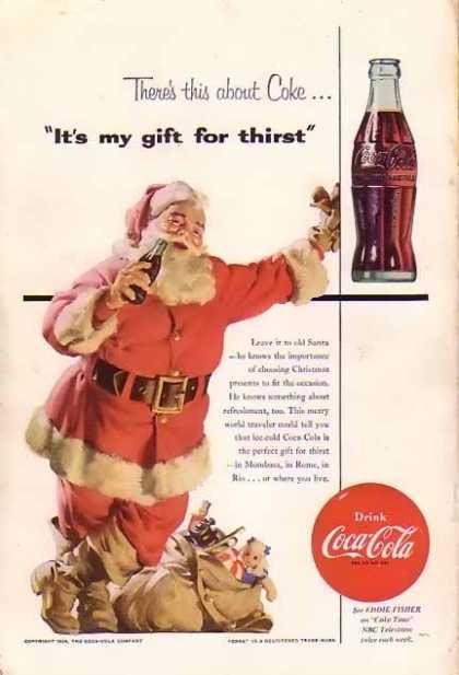 Vintage Coca Cola Christmas Ad