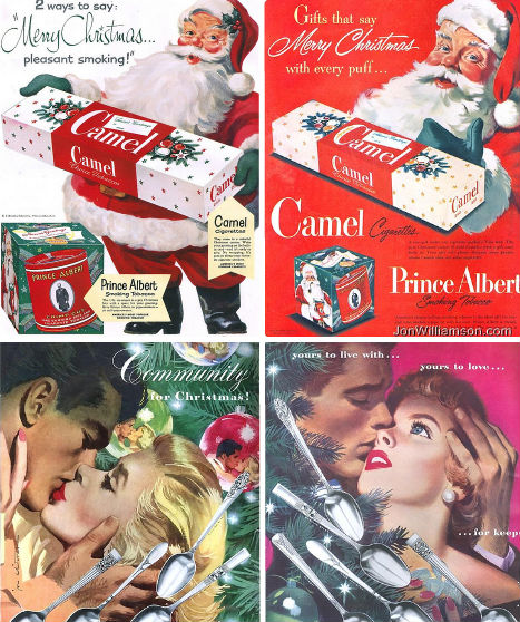 Vintage Chrismas Advertisments
