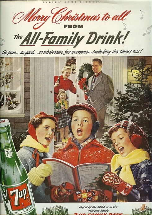 Vintage 7UP Chrismas Ad