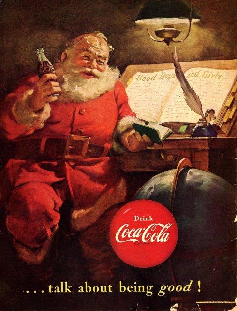 Vintage Coca Cola Advertisment- Chrismas