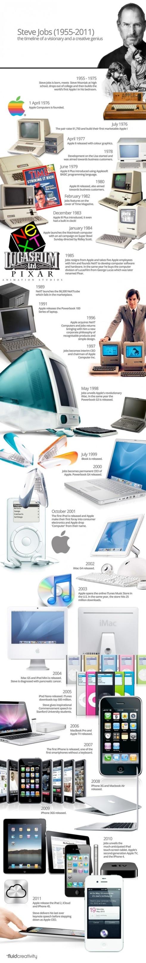 Steve Jobs Infographic