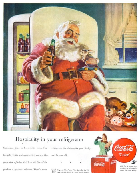Vintage Coca Cola Christmas Advertisment