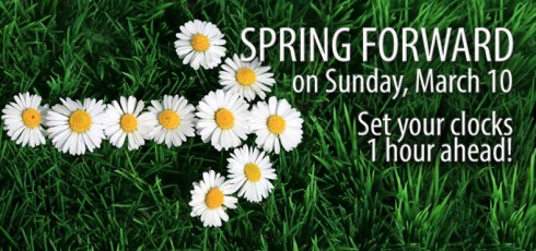 Spring Forward Sunday March 10 2013